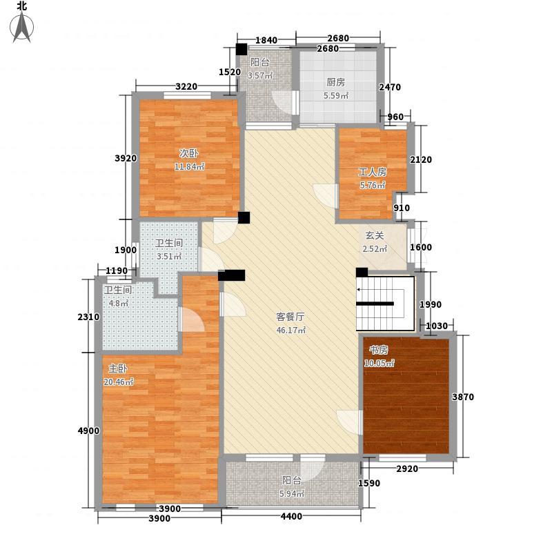 长鹭悦湖15.80㎡41号楼B1跃层上户型3室2厅2卫1厨