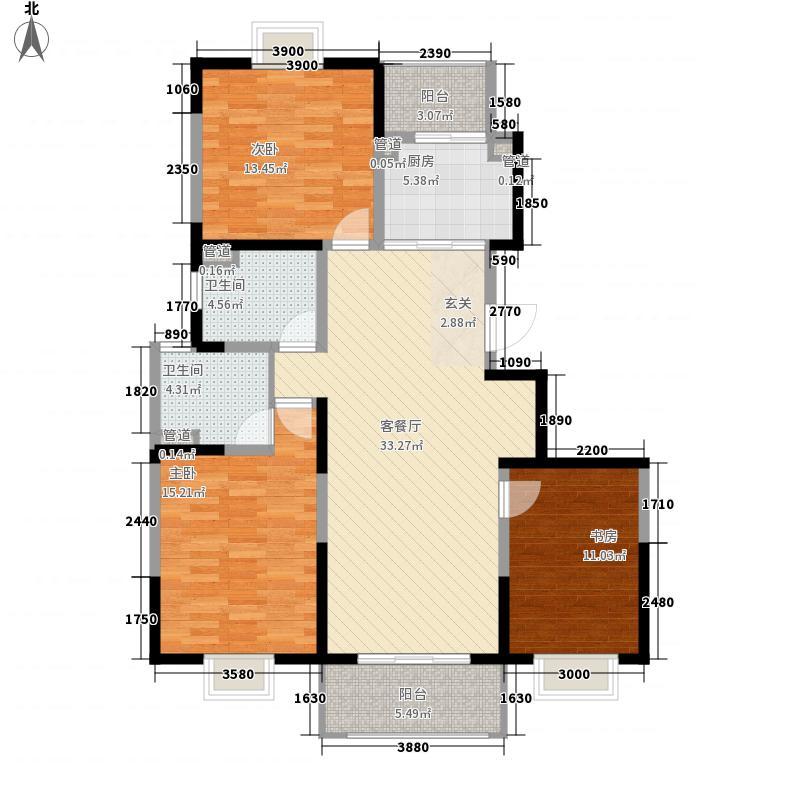 洋河梦都花园12.50㎡C2户型3室2厅2卫1厨