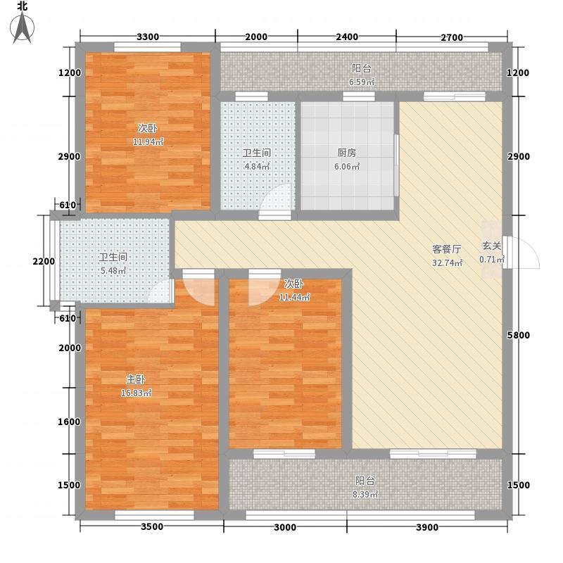 苏堤小区2户型3室2厅1卫1厨