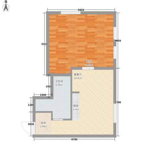 凯旋莲湖公馆1室1厅1卫0厨77.00㎡户型图
