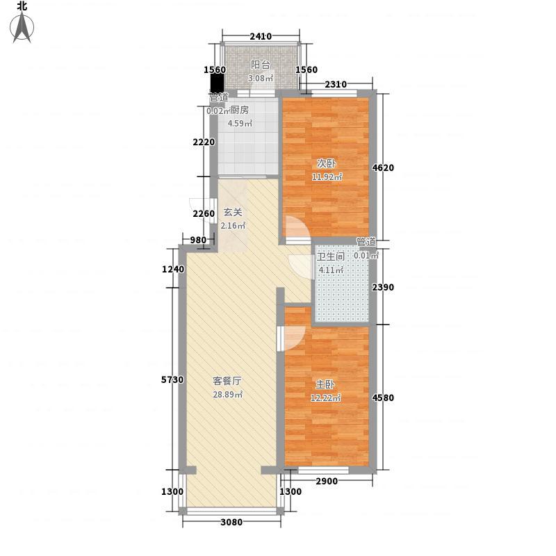 丝绸新村65.00㎡丝绸新村2室户型2室