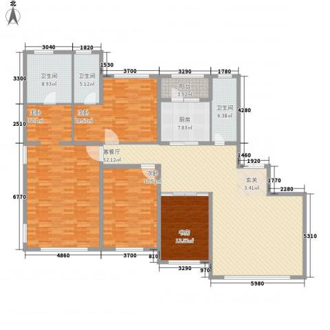国宝星月湾4室1厅3卫1厨237.00㎡户型图
