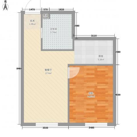 凯旋莲湖公馆1室1厅1卫0厨66.00㎡户型图