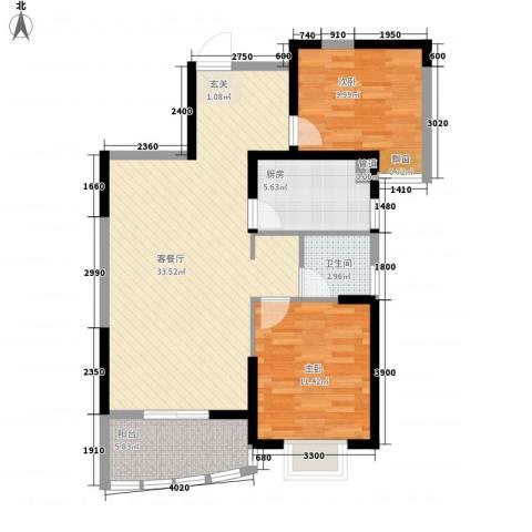 盟科商业广场(阿城)2室1厅1卫1厨99.00㎡户型图