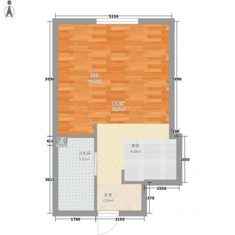 凯旋莲湖公馆1厅1卫0厨54.00㎡户型图