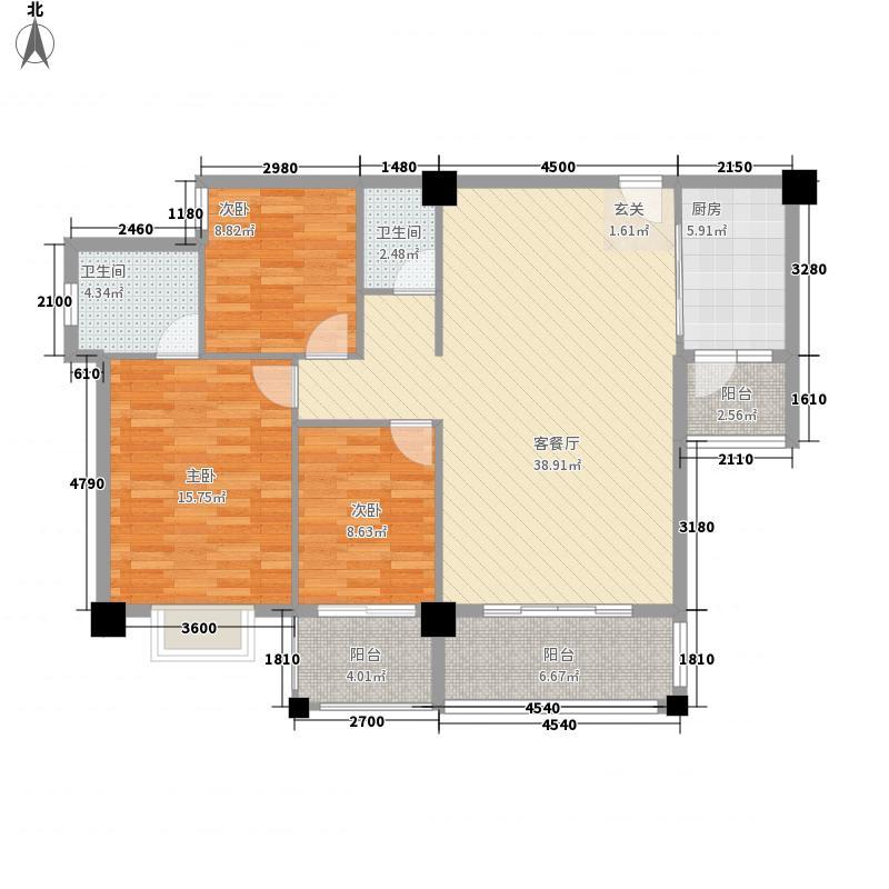 时代天骄B座05户型3室2厅2卫1厨