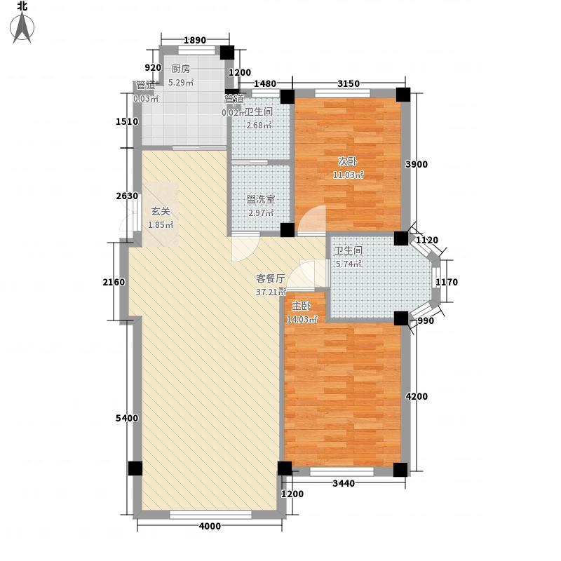 三鼎春天17.00㎡B区24#楼户型3室2厅1卫1厨