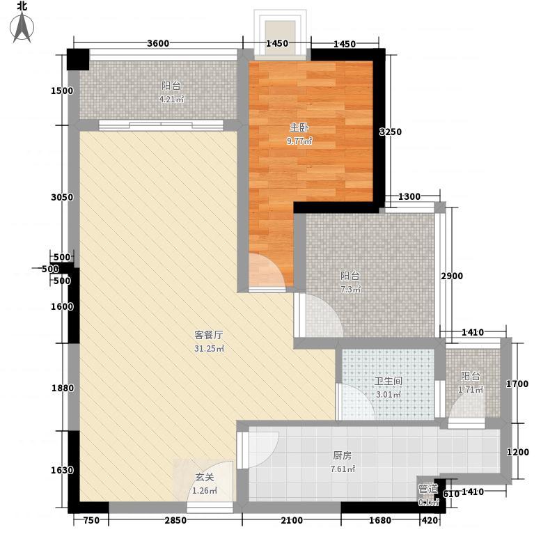 碧湖湾7.00㎡1、4、6座03、04户型2室2厅1卫1厨