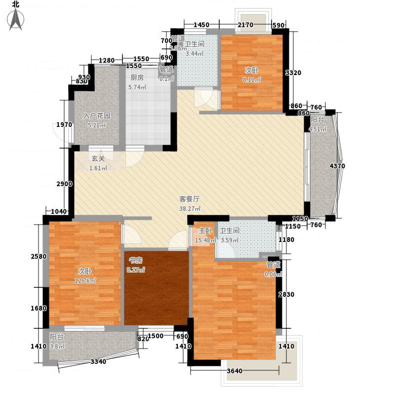怡新花园154.00㎡A-1户型4室2厅2卫1厨