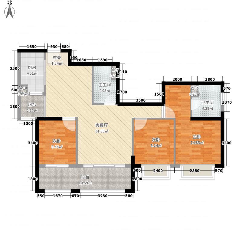天宇时代广场115.60㎡A5户型3室2厅2卫1厨