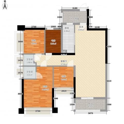 五洲家园4室1厅2卫1厨87.60㎡户型图