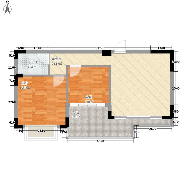 锦峰森邻76.00㎡锦峰森邻园景两房户型10室