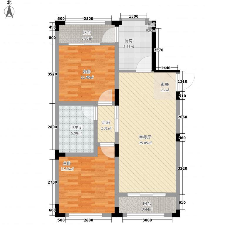 长兴苑100.01㎡长兴苑两室两厅一卫100.01平米B户型10室