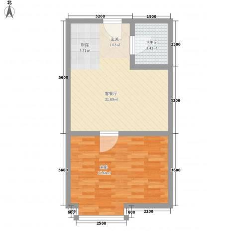 环宇世纪星城1室1厅1卫0厨67.00㎡户型图