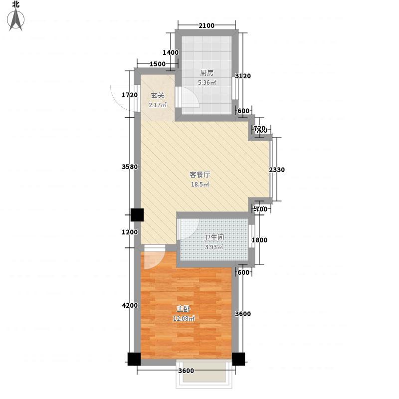 富丽豪庭新橙公寓54.94㎡富丽豪庭新橙公寓户型图C户型1室1厅1卫1厨户型1室1厅1卫1厨