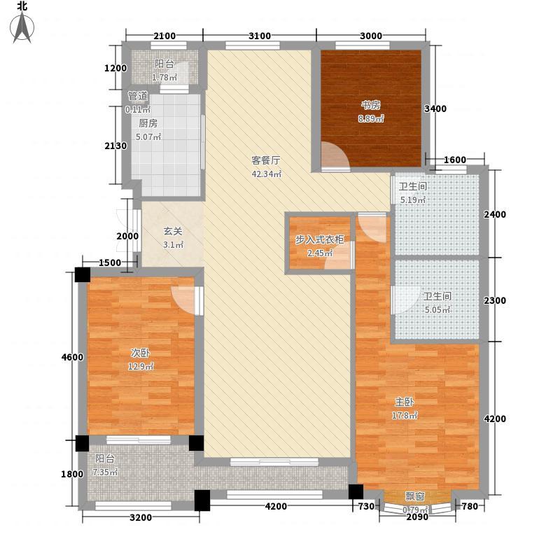 ��玫瑰园137.12㎡户型3室2厅2卫