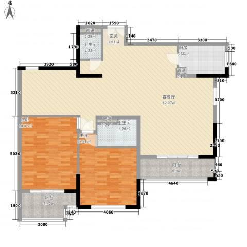 滨江19332室1厅2卫1厨171.00㎡户型图