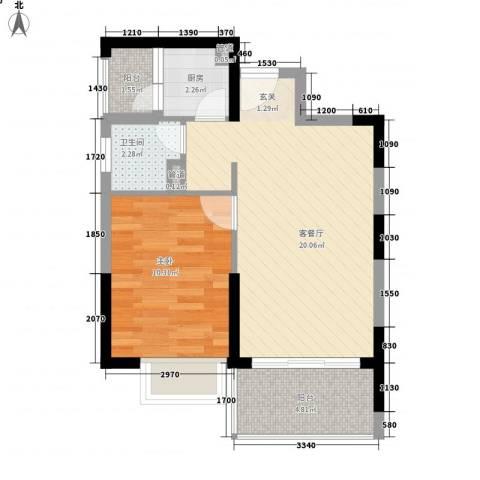 金源花园1室1厅1卫1厨110.00㎡户型图