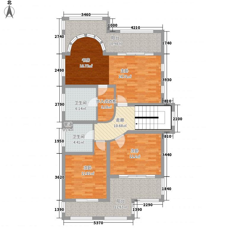 太湖古北雅园281.40㎡太湖古北雅园户型图A-3户型二层4室4厅3卫1厨户型4室4厅3卫1厨