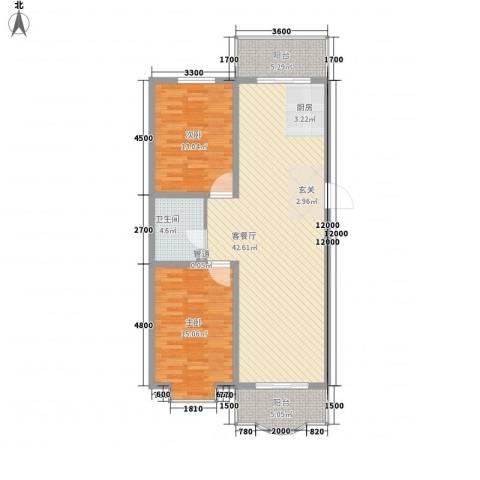嘉禾花园(和平)2室1厅1卫0厨110.00㎡户型图