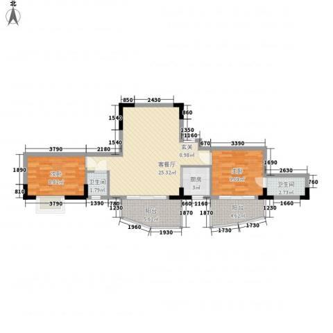 芳菲苑2室1厅2卫1厨88.00㎡户型图