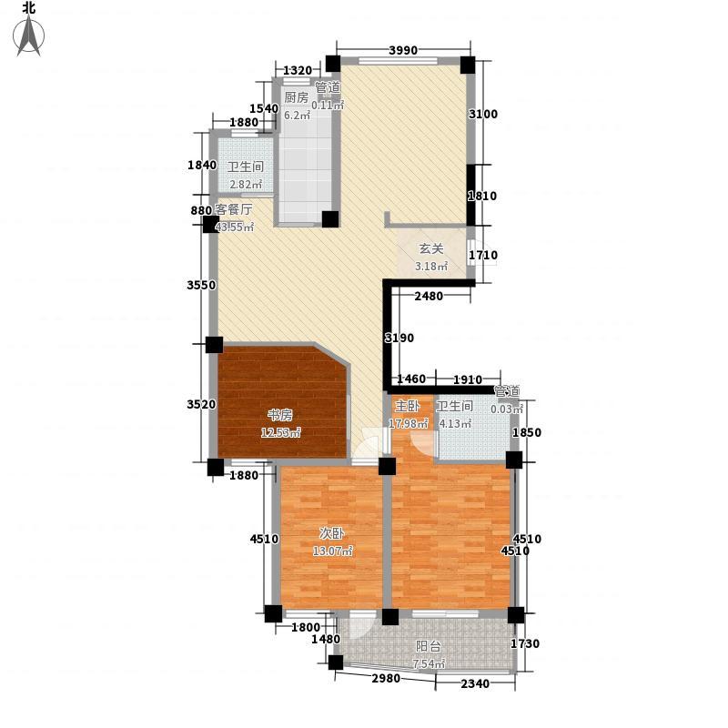 冠达豪景苑冠达豪景苑户型图E53室2厅2卫1厨户型3室2厅2卫1厨