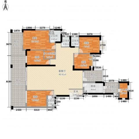 现代经典花园5室1厅4卫1厨200.00㎡户型图