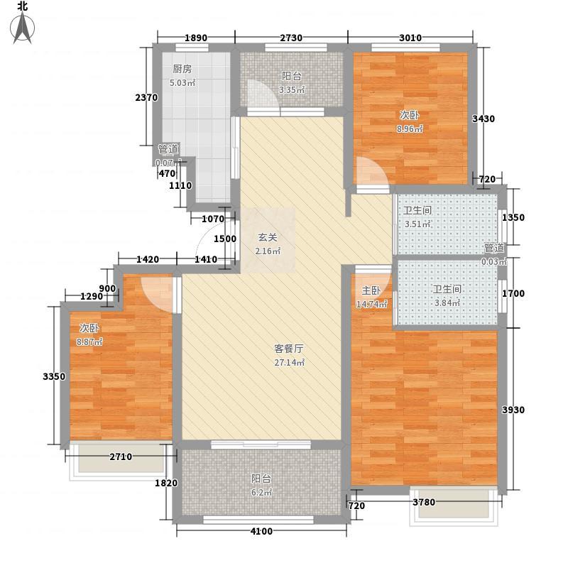 保利香雪山西区16#小高层B2户型