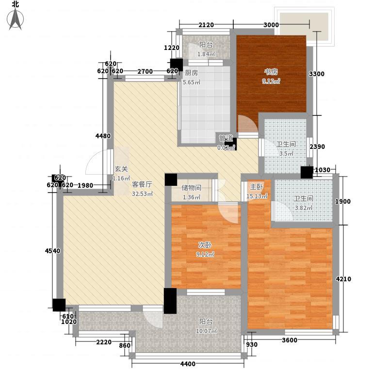 中天名园11.86㎡G1户型3室2厅2卫1厨