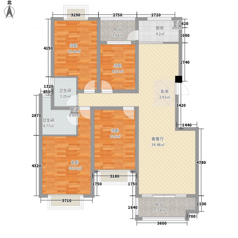 环翠花苑15.60㎡一期多层户型4室2厅2卫1厨