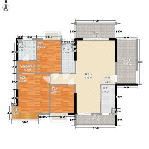 富盈加州阳光3室1厅2卫1厨165.00㎡户型图