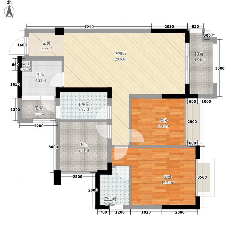 恒邦・新天地1.60㎡B3型户型3室2厅2卫1厨