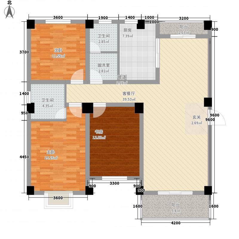 德邦翠馨居138.37㎡德邦翠馨居户型图B1户型3室2厅2卫1厨户型3室2厅2卫1厨