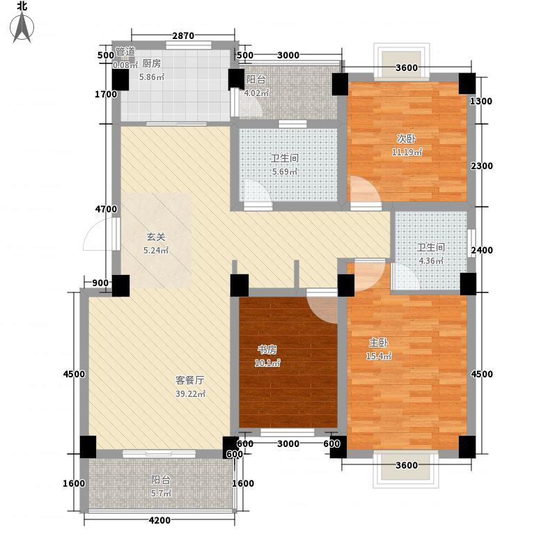 德邦翠馨居136.47㎡德邦翠馨居户型图B4户型3室2厅2卫1厨户型3室2厅2卫1厨