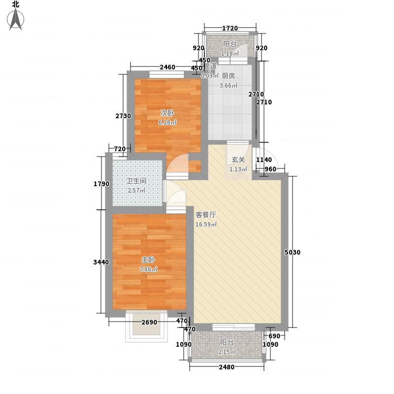 玻璃厂宿舍60.00㎡玻璃厂宿舍2室户型2室