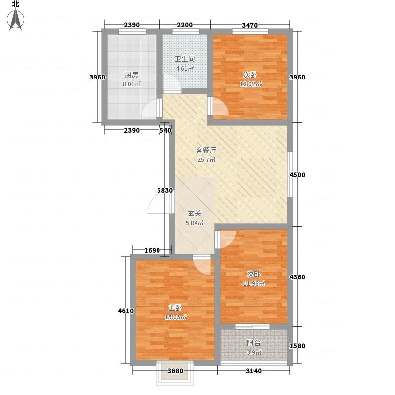 富通・香树湾富通DM-反 3室1厅1卫1厨 114.50㎡
