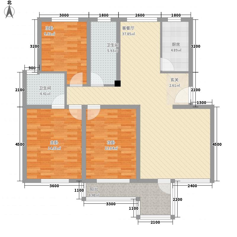 北京东路检察院宿舍1276595453070户型3室2厅2卫1厨