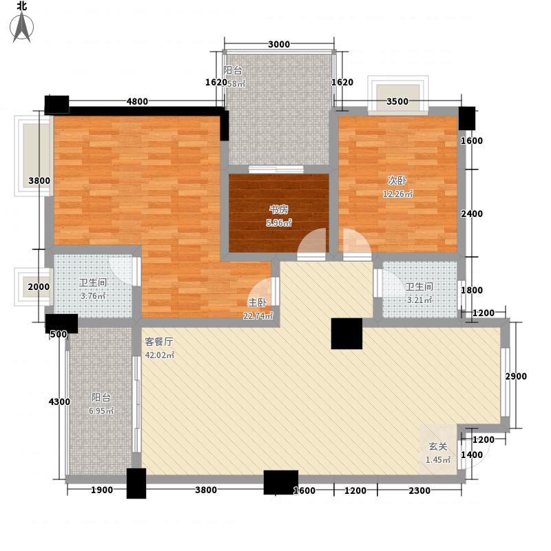 华鼎雍王府3室1厅2卫0厨150.00㎡户型图