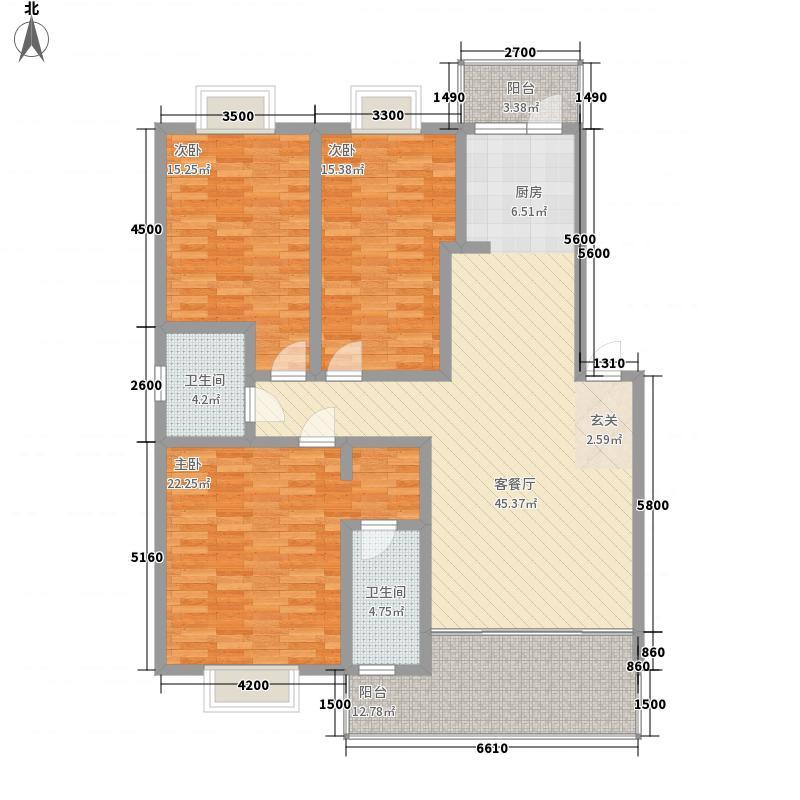 绿海星城143.68㎡日光迷情户型3室2厅2卫1厨