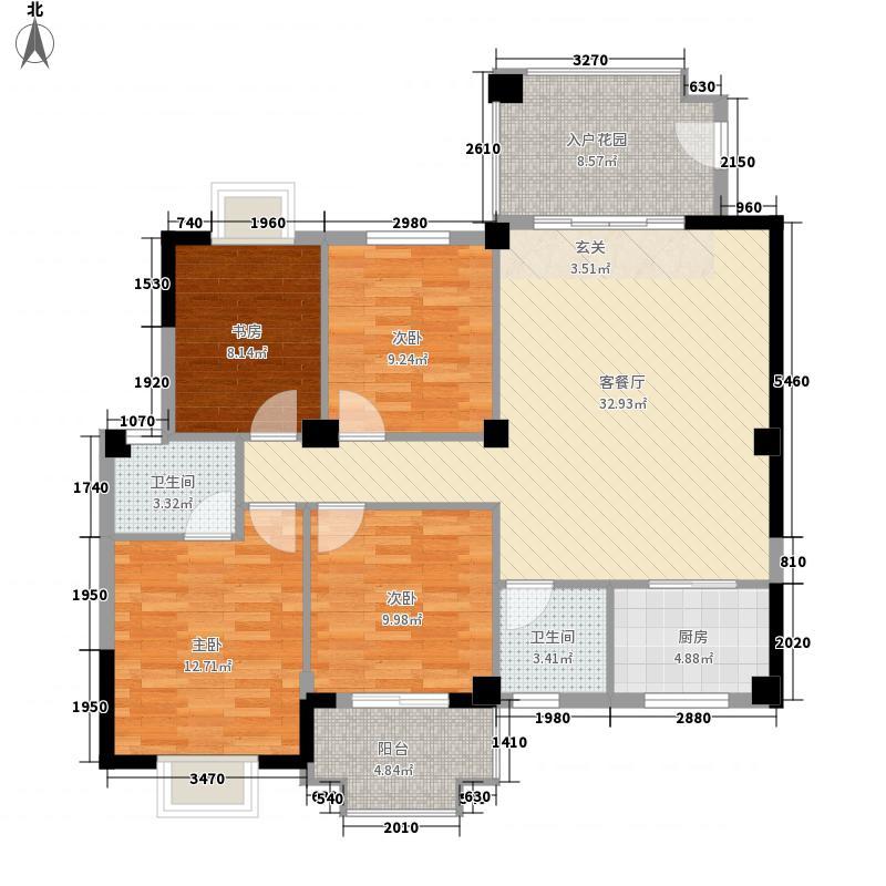 未来海岸蓝月湾136.12㎡二期G+户型4室2厅2卫1厨