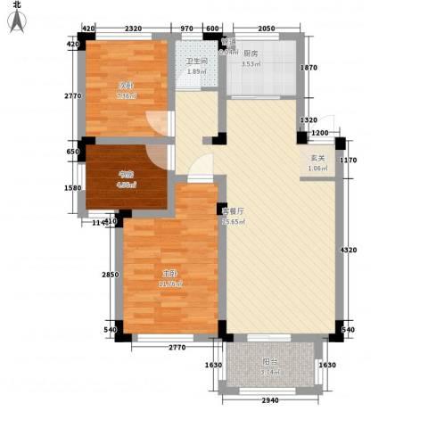 凡尔赛公馆3室1厅1卫1厨88.00㎡户型图