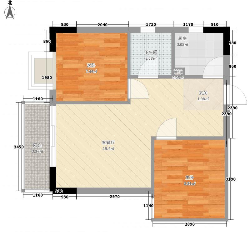 金园61.91㎡深圳金园户型图2户型10室