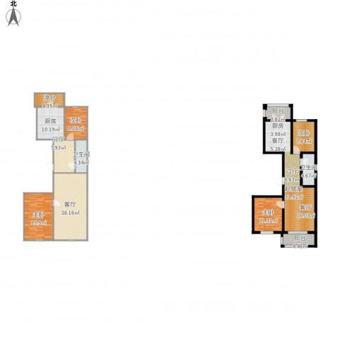 好民居康泰嘉园4室1厅2卫1厨197.00㎡户型图