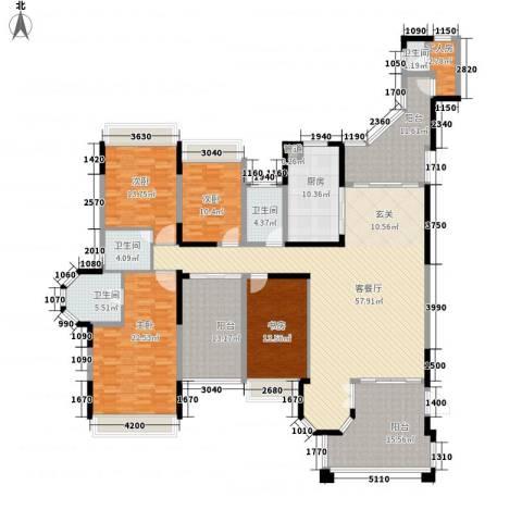 花样年君山别墅4室1厅4卫1厨211.88㎡户型图