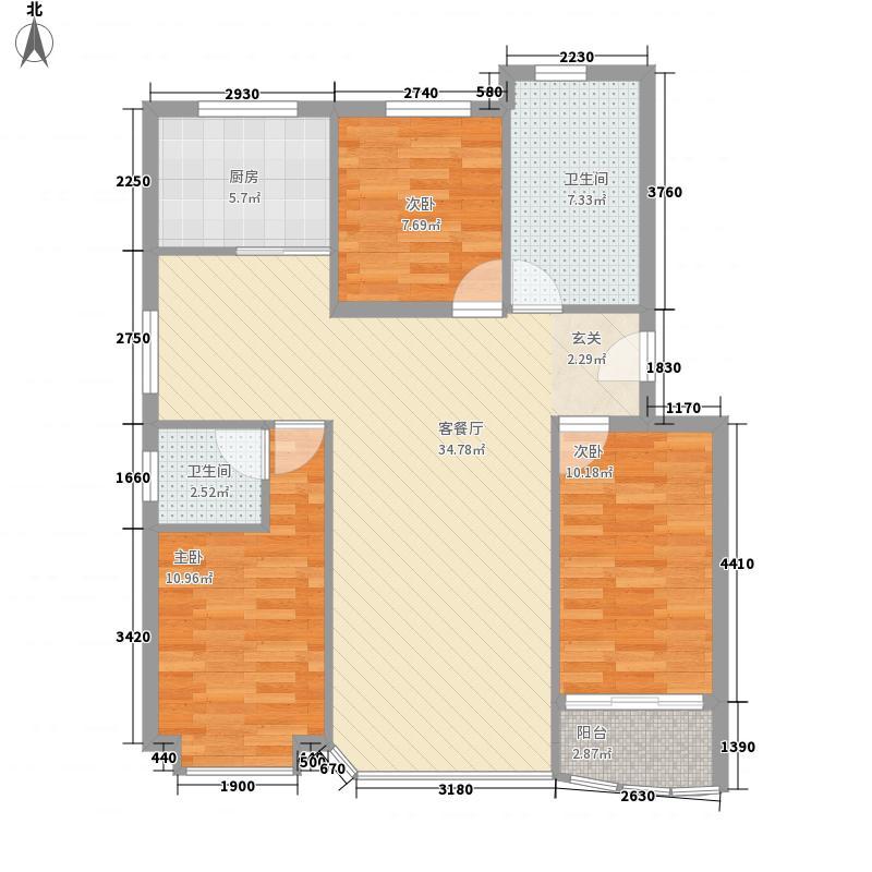 曙光113.00㎡小区户型3室2厅1卫1厨