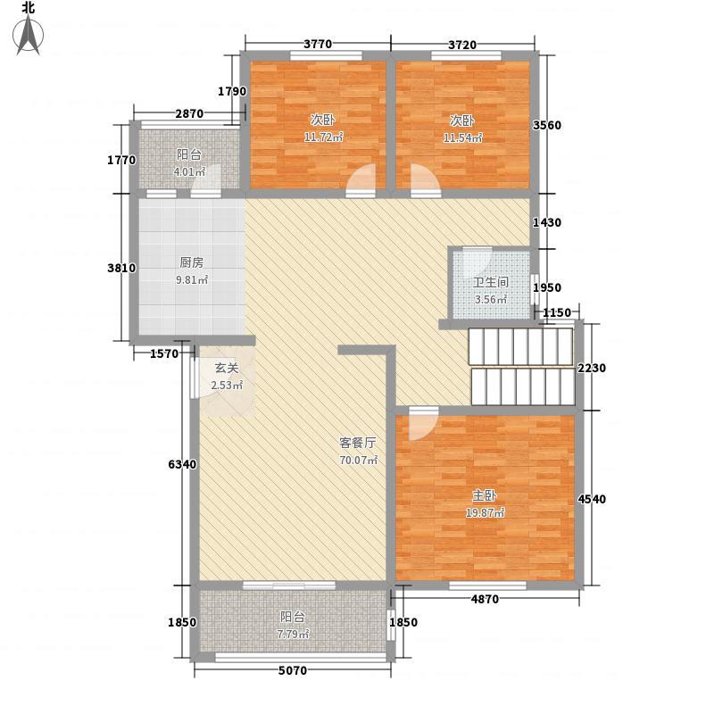 海德堡蓝湾18.00㎡顶层复式户型3室2厅1卫1厨