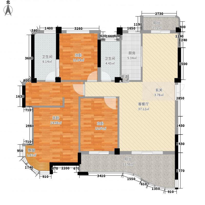 尚层建筑户型图3室2厅2卫1厨