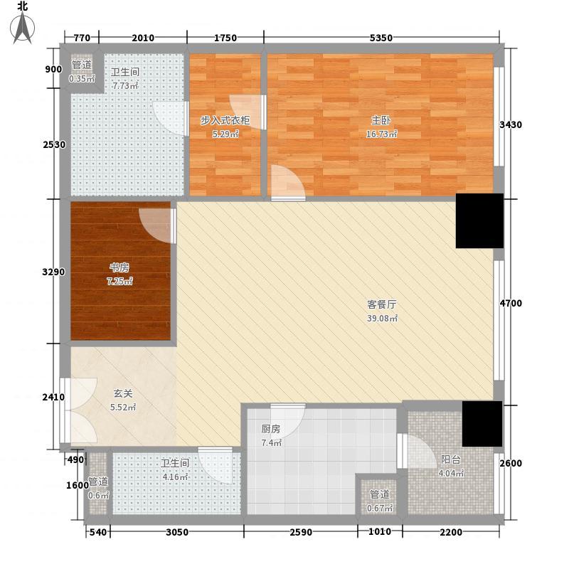 �臣津湾一品2室1厅2卫1厨131.00㎡户型图