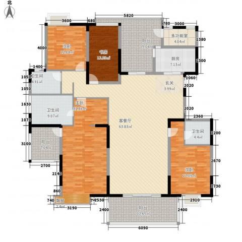 金地曲江尚林苑4室1厅3卫1厨260.00㎡户型图
