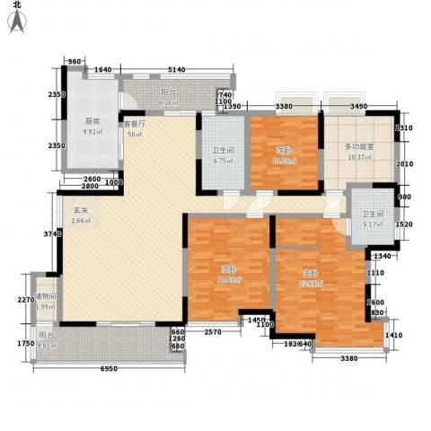 曲江荣禾曲池坊3室1厅2卫1厨217.00㎡户型图